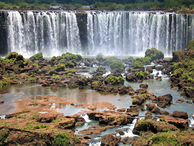Iguazú falls in northern Argentina
