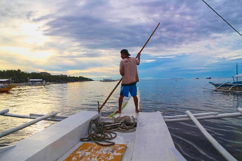 Island boat driver on my travels in the philippines