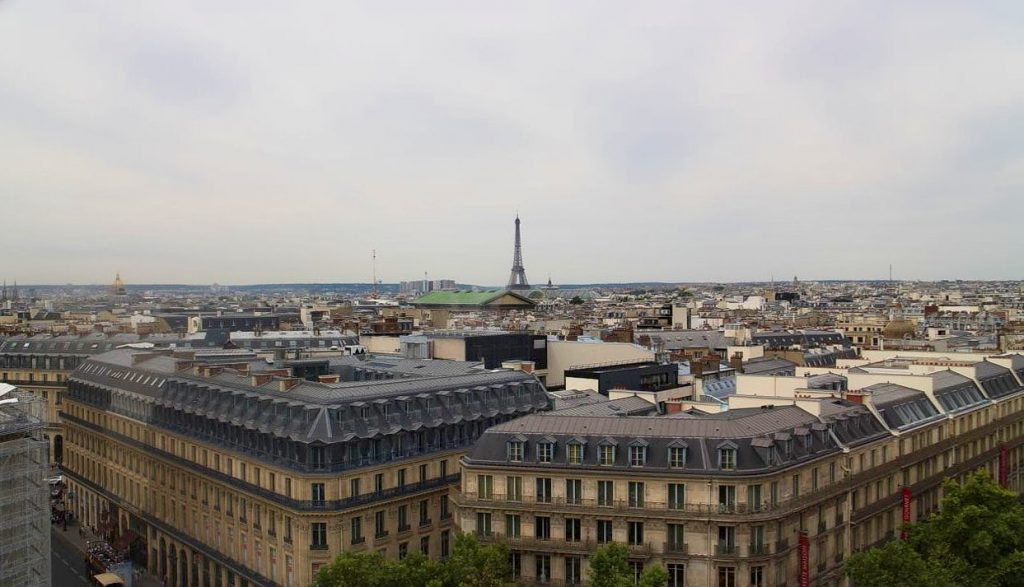 paris rooftops and eifel tower vista