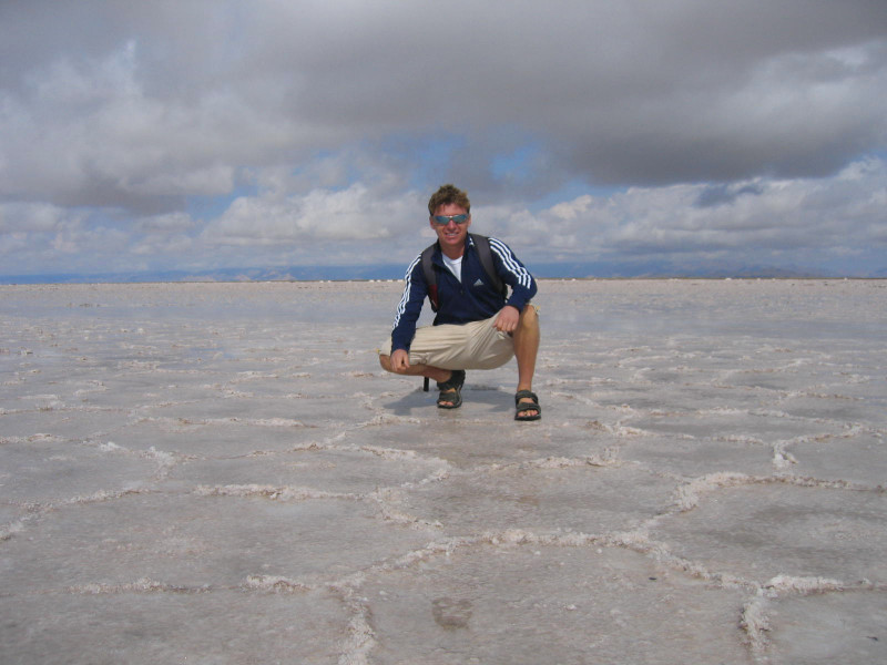 Salinas Grandes salt plains near cordoba in argentina