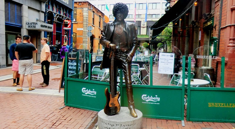 statue of phil lynott dublin musician off grafton street