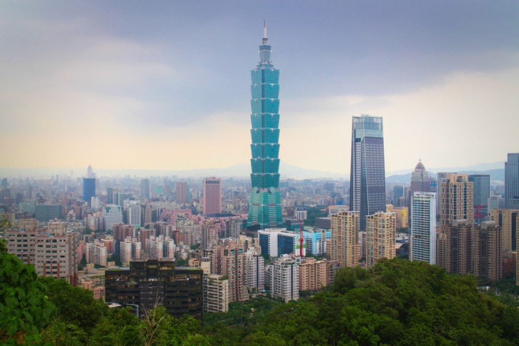 101 tower and Taipei digital nomad city