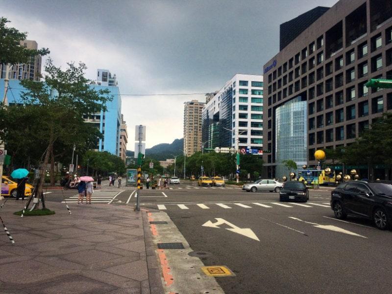 Taipei's modern streets