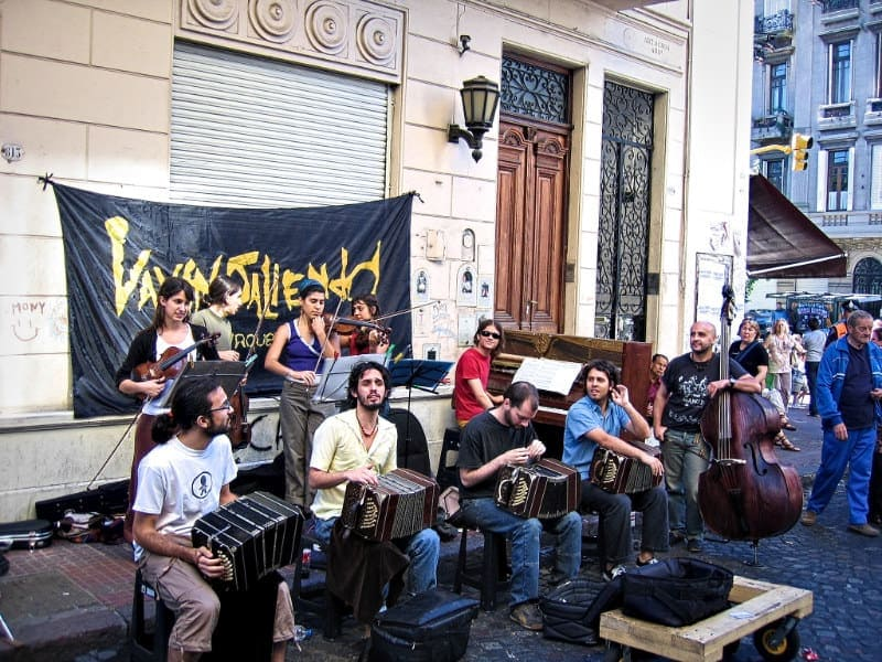 Tango musicians on the streets of San Telmo