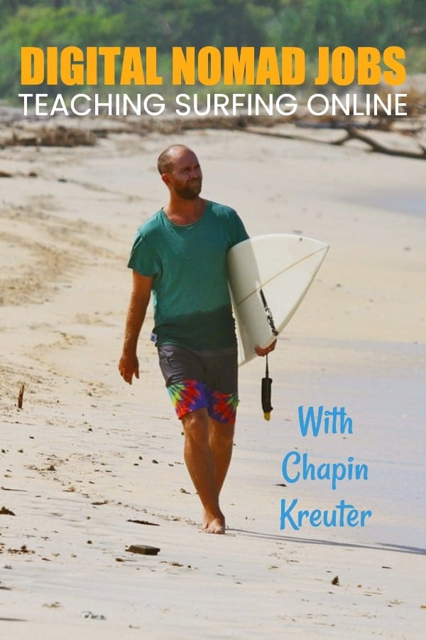 digital nomad interview: surfing lessons online