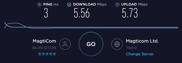 Erti Kava cafe Wifi speed