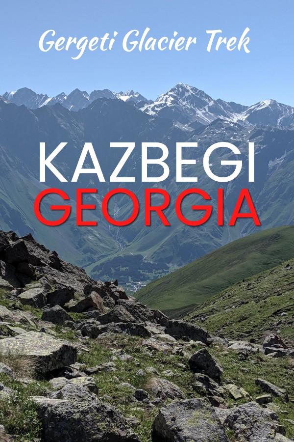 Hike the Gergeti glacier trail in Kazbegi Georgia