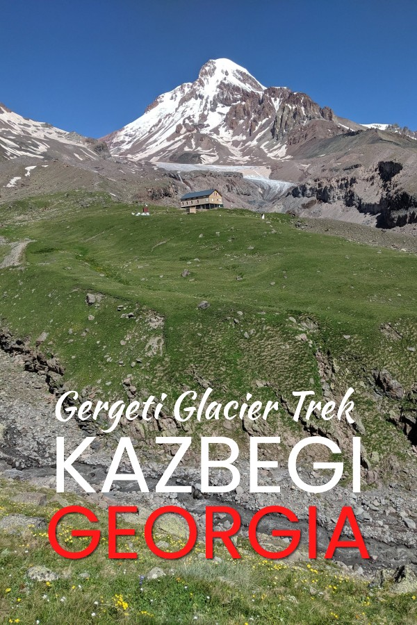 hiking the Kazbegi Gergeti glacier trek