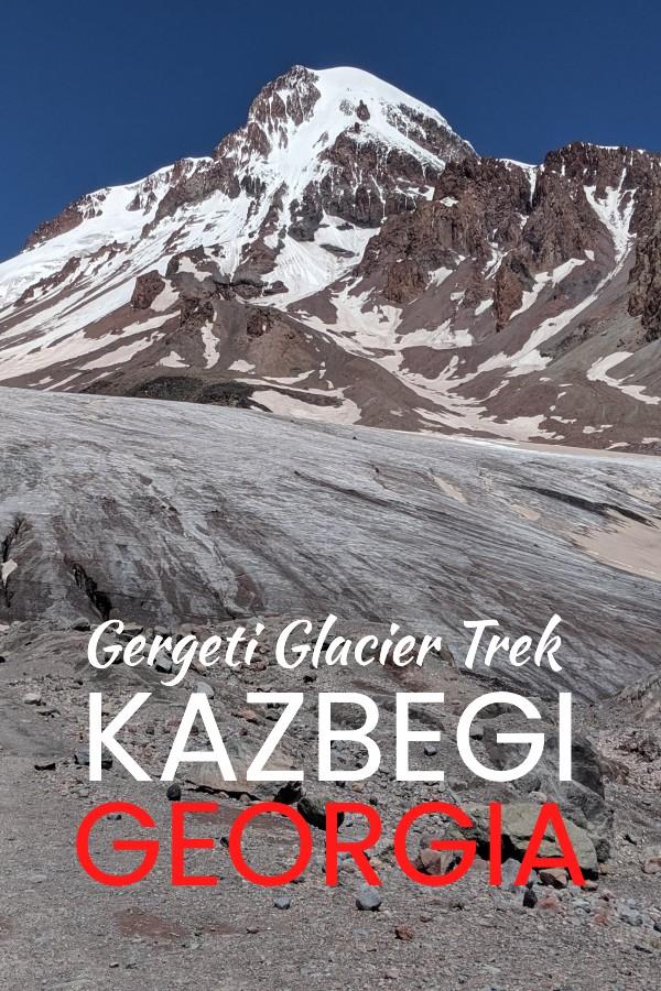 Kazbegi Gergeti glacier trek in Northern Georgia