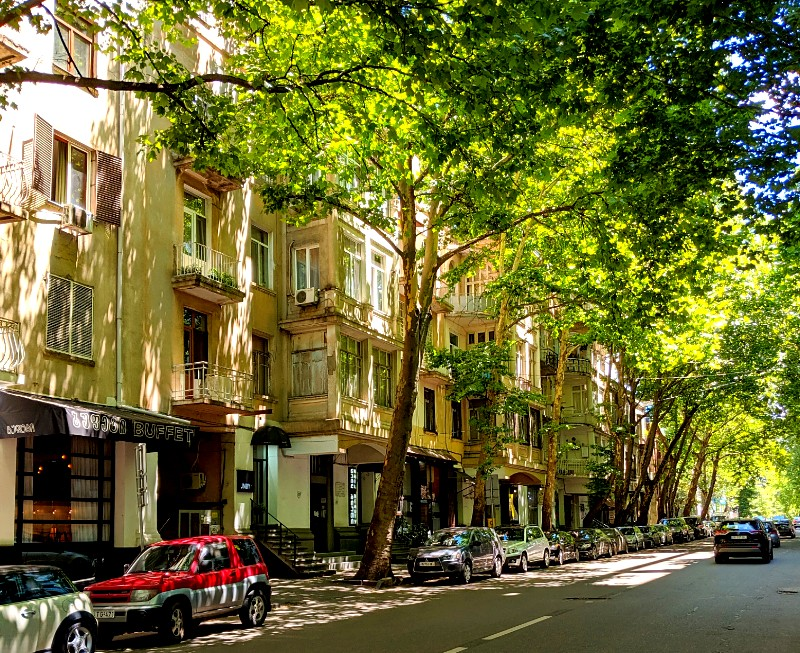 The leafy streets of Vake, Tbilisi