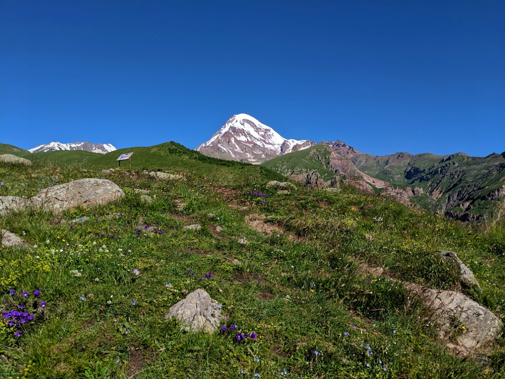 Mt Kazbek in the distance