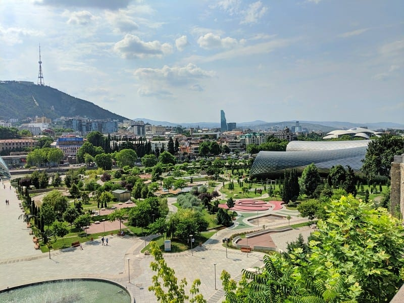 Rike park Tbilisi in Summer
