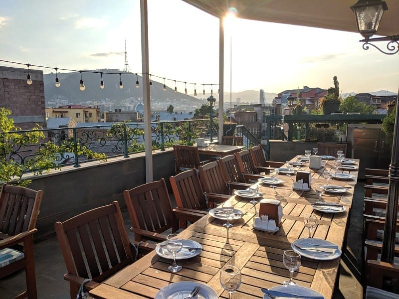 Amazing value restaurants with views in Tbilisi