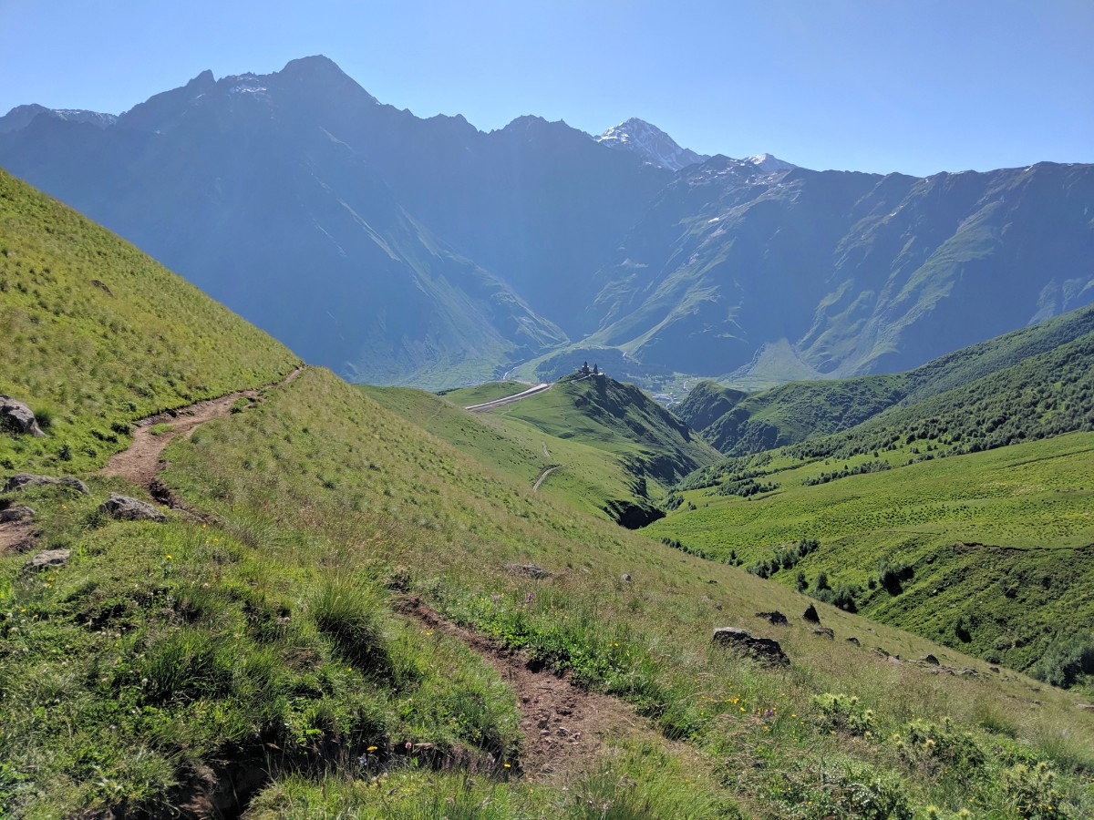stepantsminda to gergeti glacier hike trail
