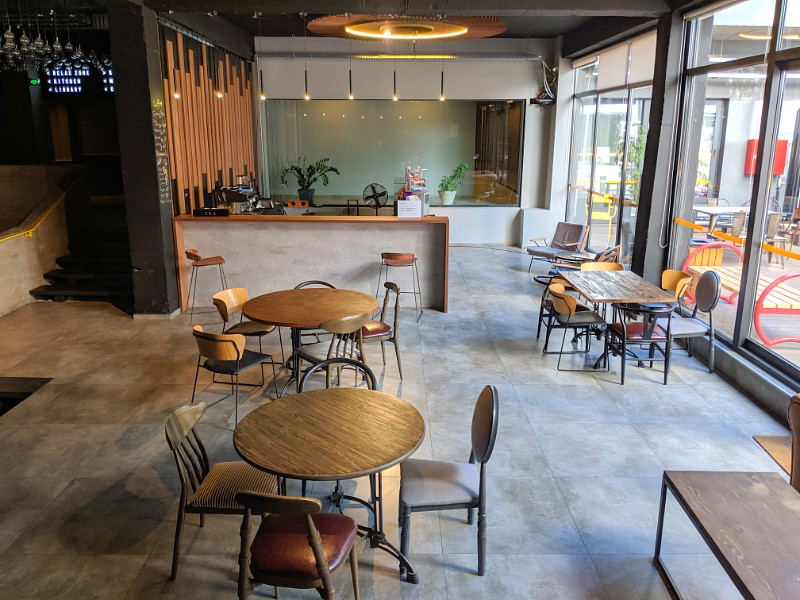 Terminal Vake coworking cafe and outdoor space
