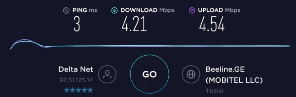 ViceVersa coffee Vake - Internet speed