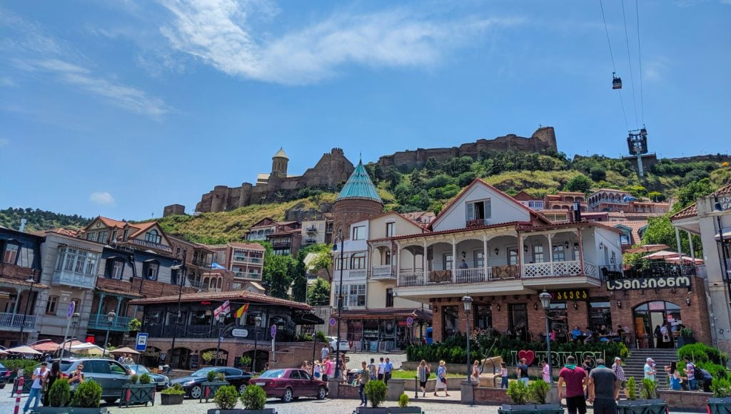 Image of Dzveli Tbilisi - The old city with Narikala Fortress and cable car
