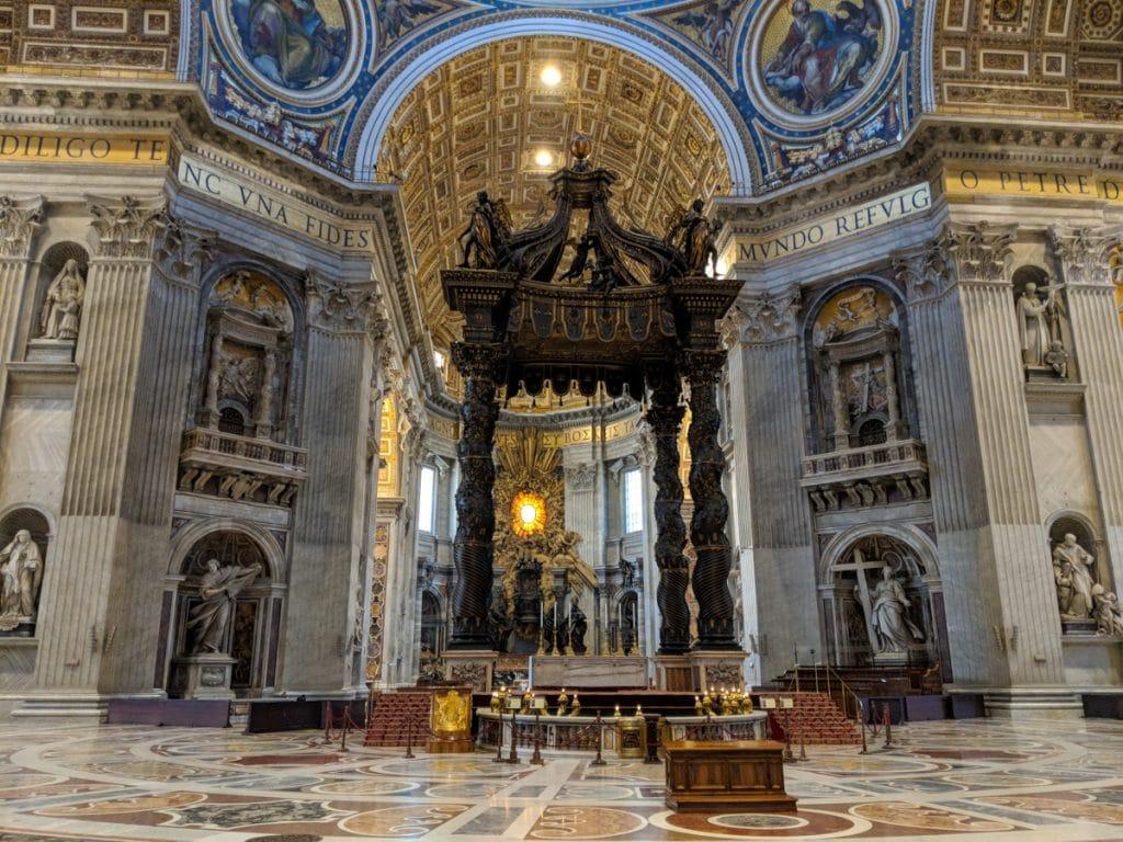 Inside St Peter's Basilica, Vatican