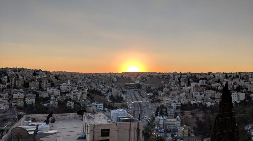 Sunset over Amman