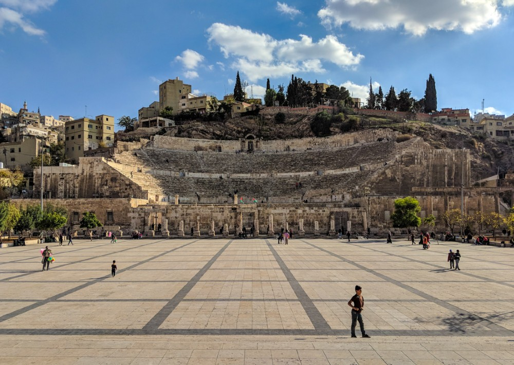 The Roman Amphitheatre in Amman's City Centre