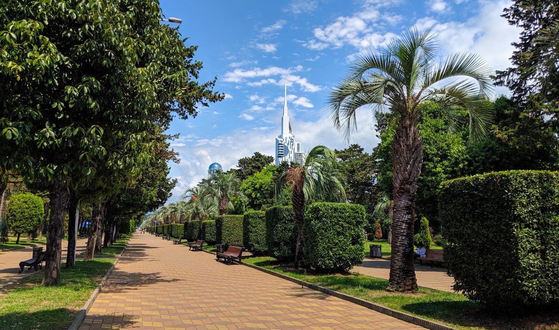 Batumi Promenade on the Black Sea coast of Georgia image