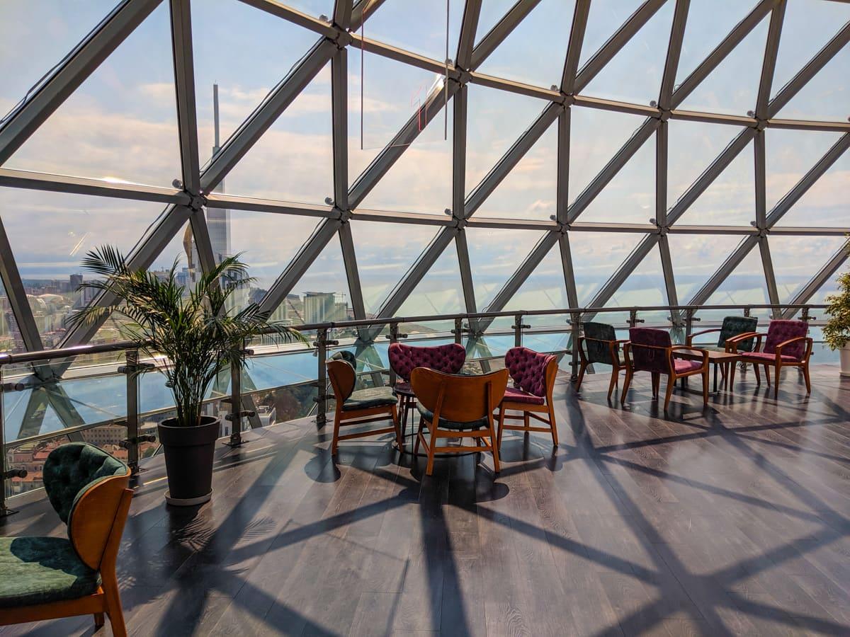 Image of The City of Batumi's Alphabet Tower Cafe