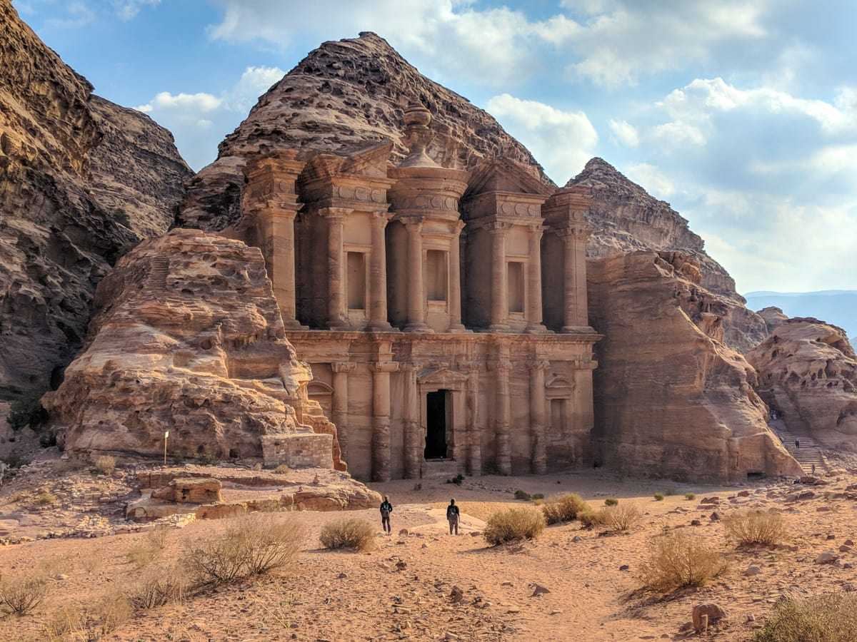 A longer vew of the Cathedral in Petra