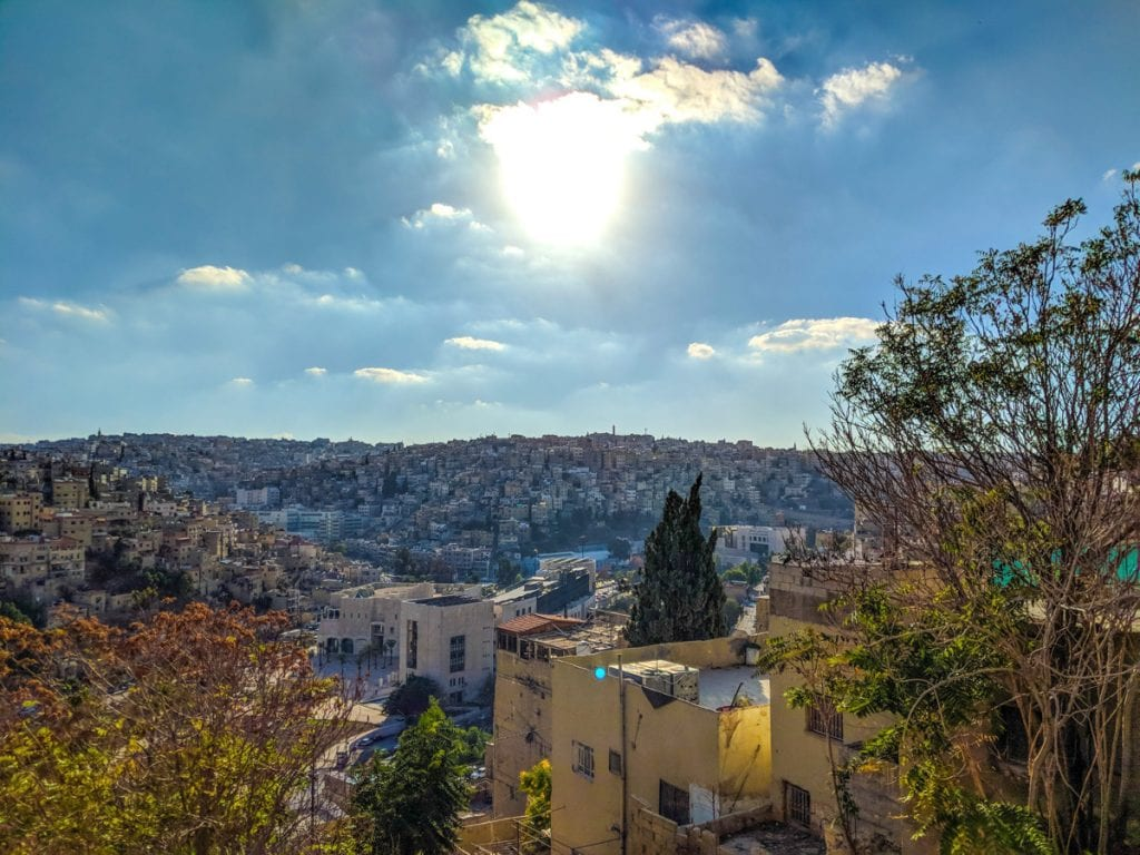 Cloudy view of the city of Amman, the capital of Jordan