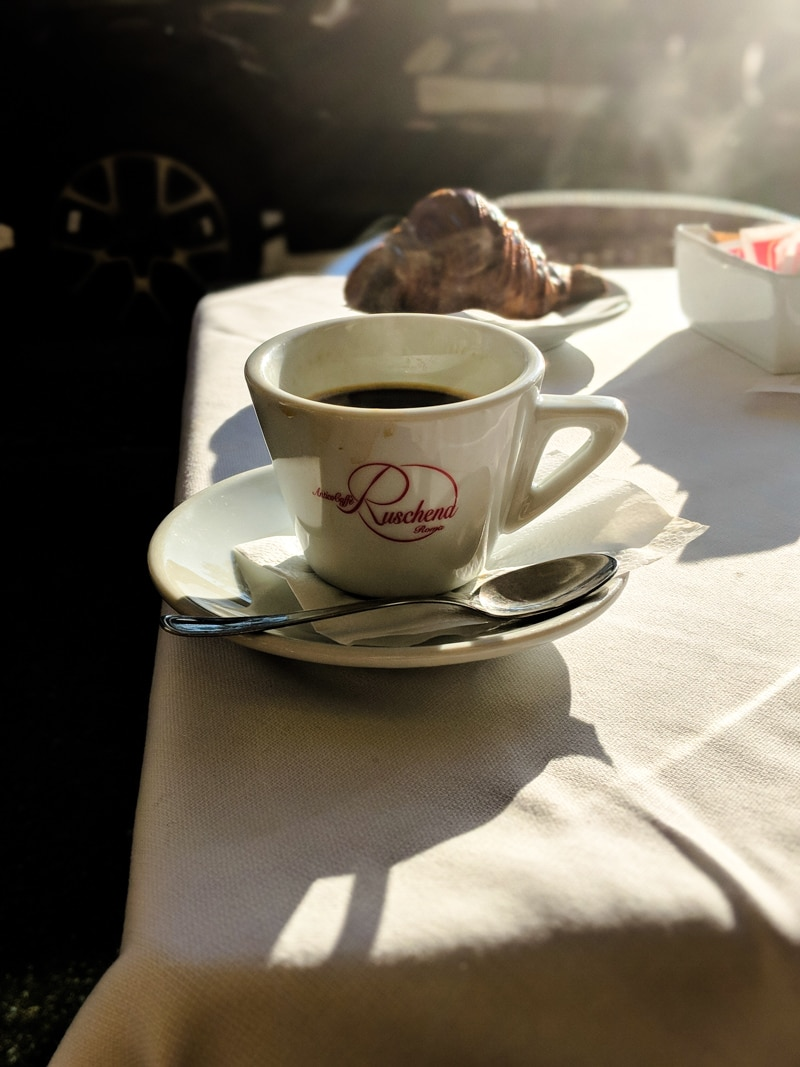 coffee in Antico Cafè Ruschena