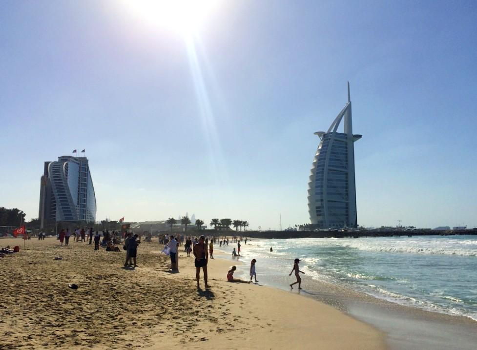 Dubai beaches by the coast