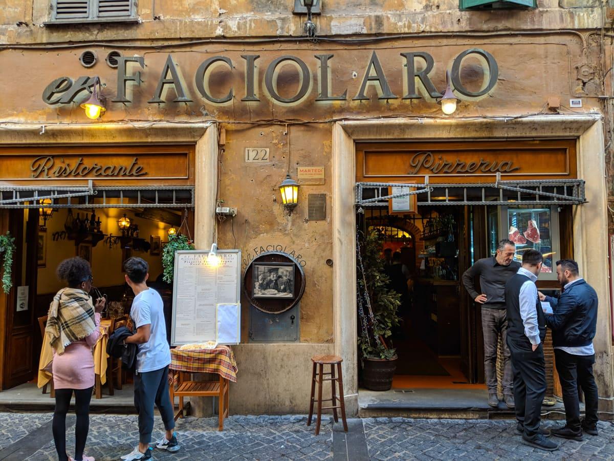El Faciolaro Cafe Rome