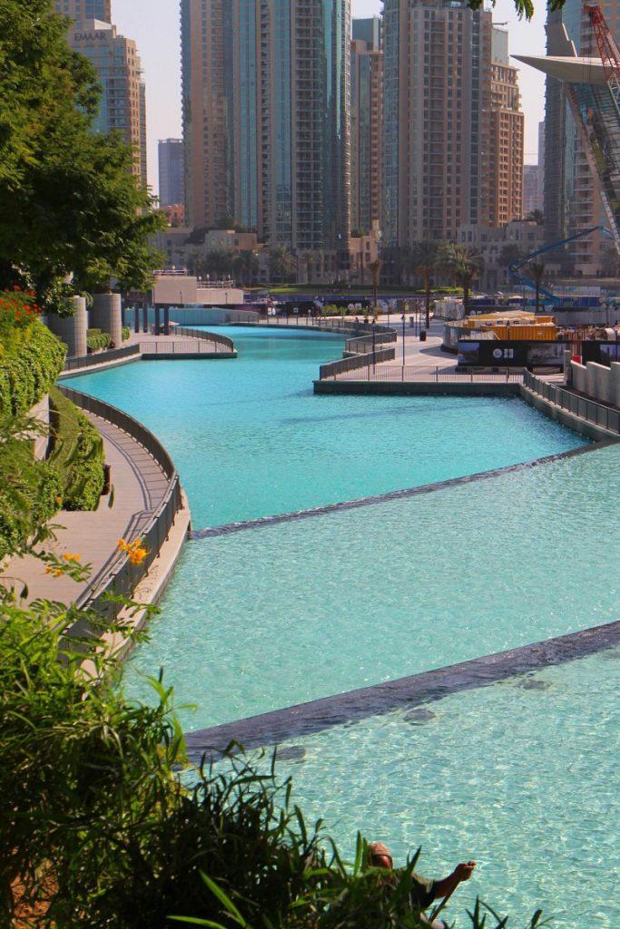 Man made river near the Burj Khalifa
