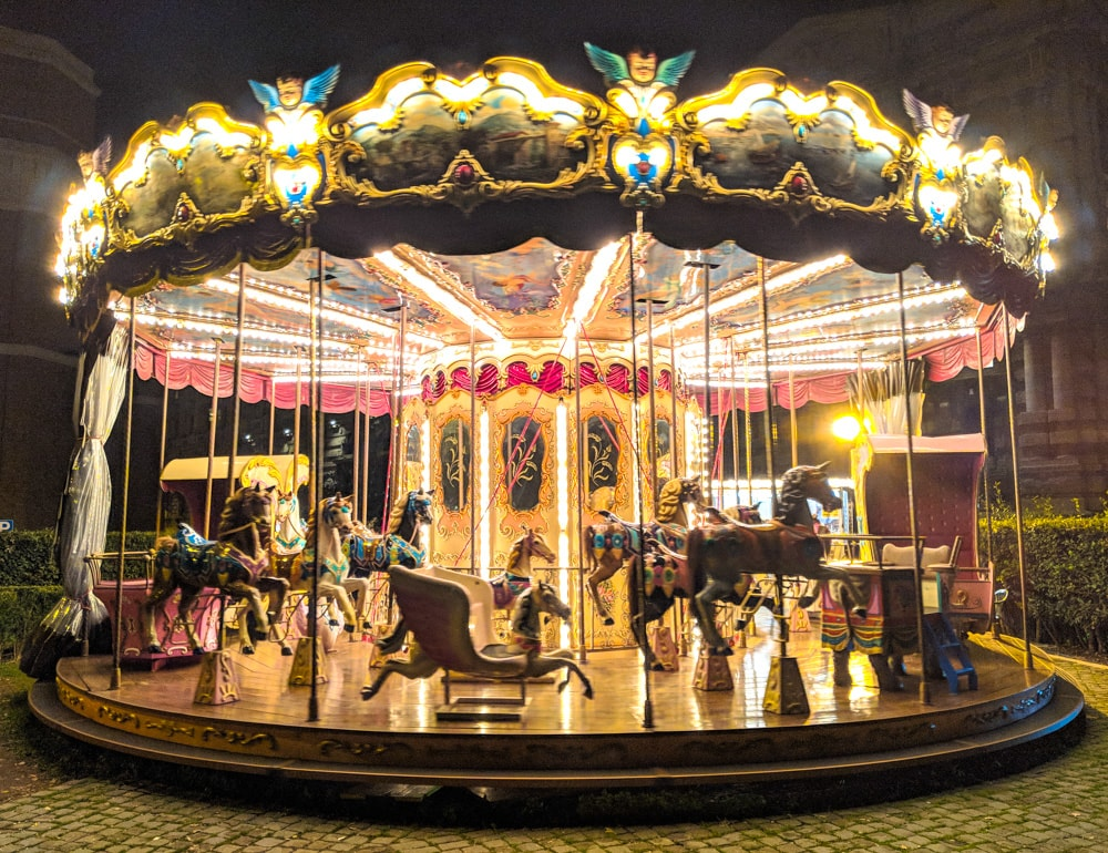 merry go round near Lungotevere Castello