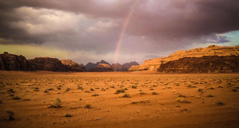Rainbow in Wadi Rum