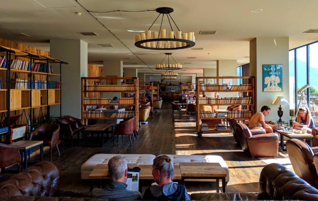 The Library in Rooms Hotel Kazbegi