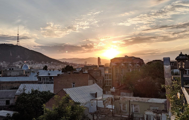 Image of Sunset in Tbilisi Georgia