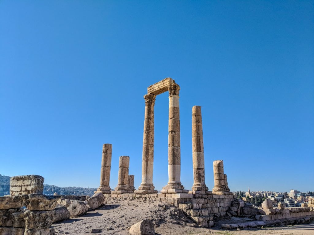The Temple of Hercules at the Citadel of Amman