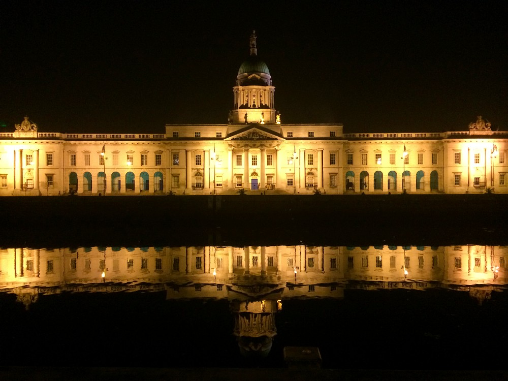 The customs house on the river liffey