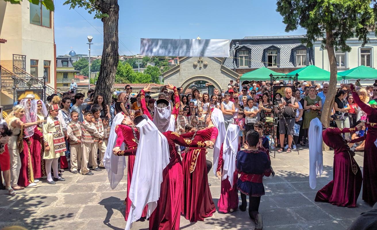 Traditional Georgian dance in Tbilisi