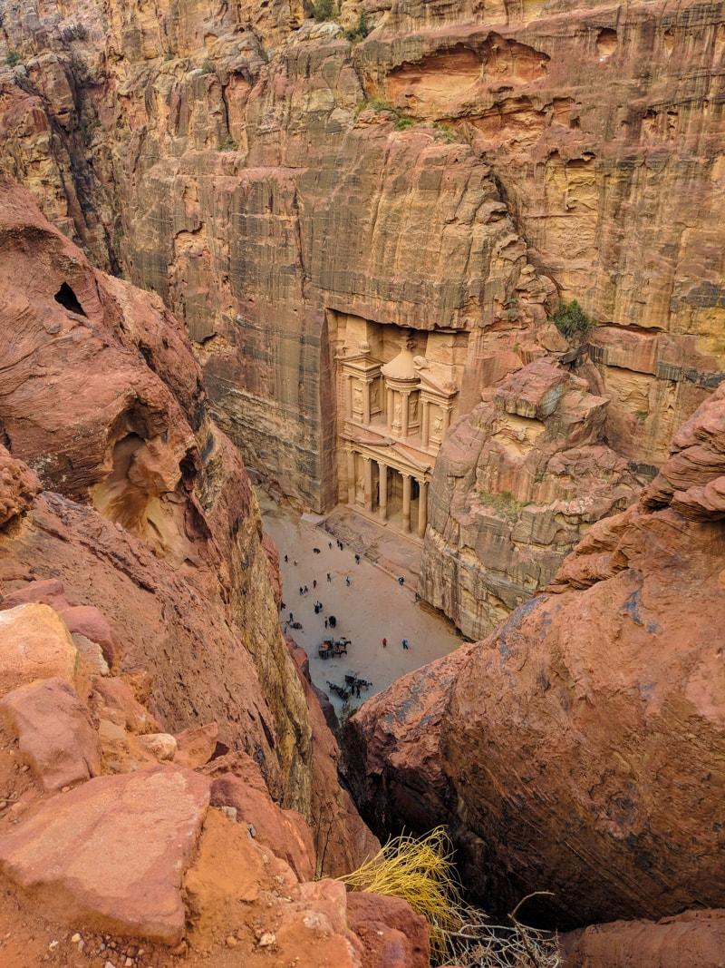 Petra's Treasury From Above
