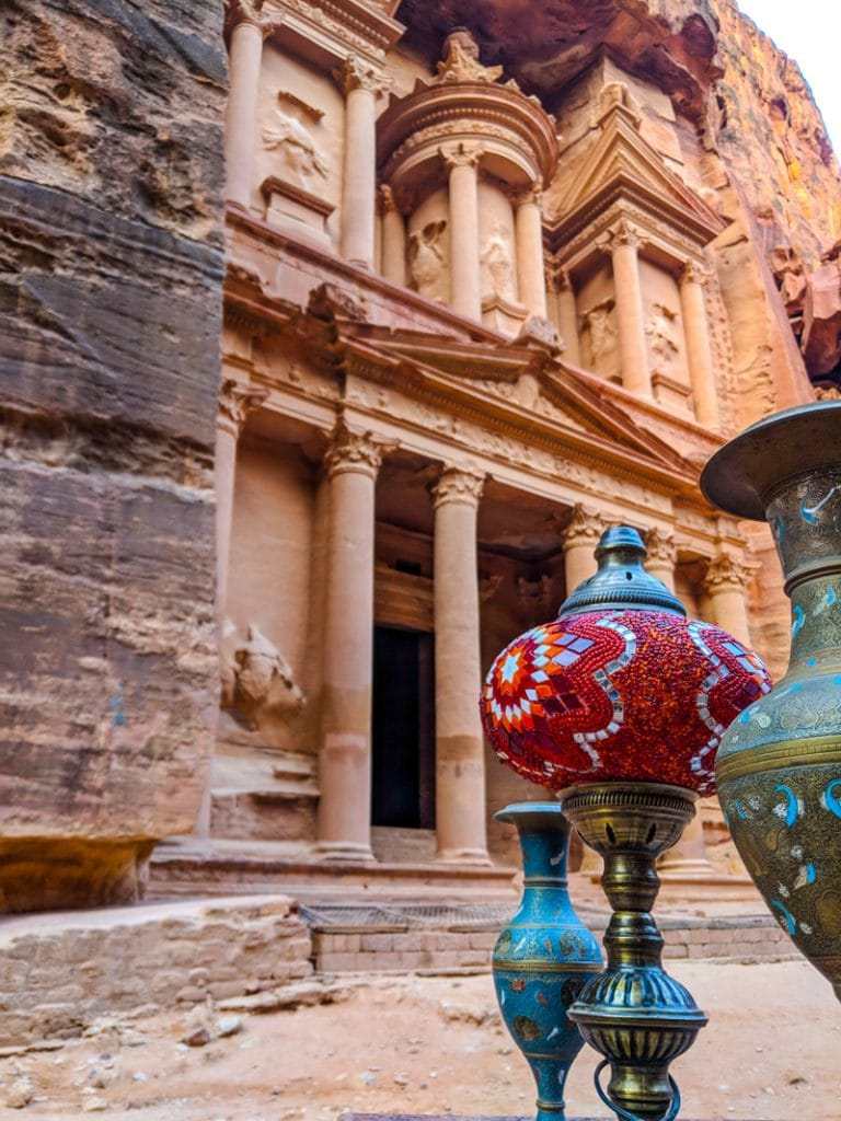 Vases for sale in front of the Treasury of Petra