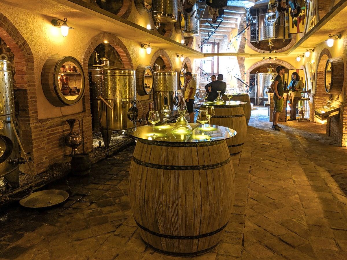 Wine tasting in wine gallery Tbilisi