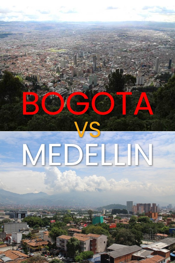 Bogotá and Medellin cities in Colombia