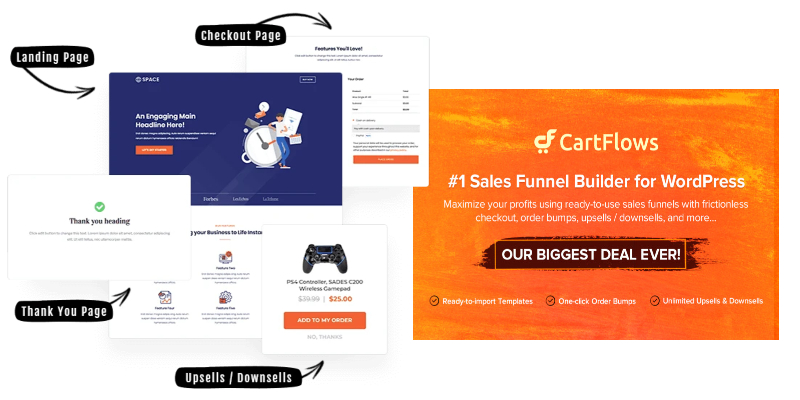 cartflows funnel and cart builder for wordpress