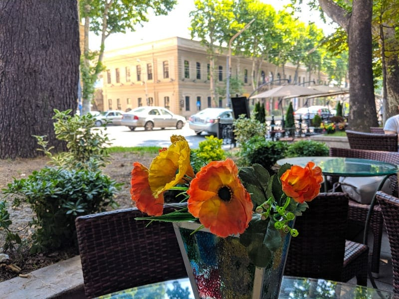 cafe on Shota Rustaveli Avenue