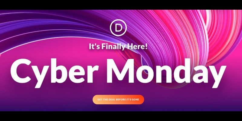 Cyber Monday Elegant Themes Divi sale