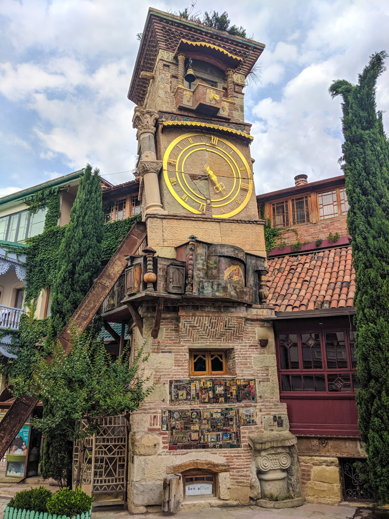 Leaning tower at the Rezo Gabriadze Marionette Theater