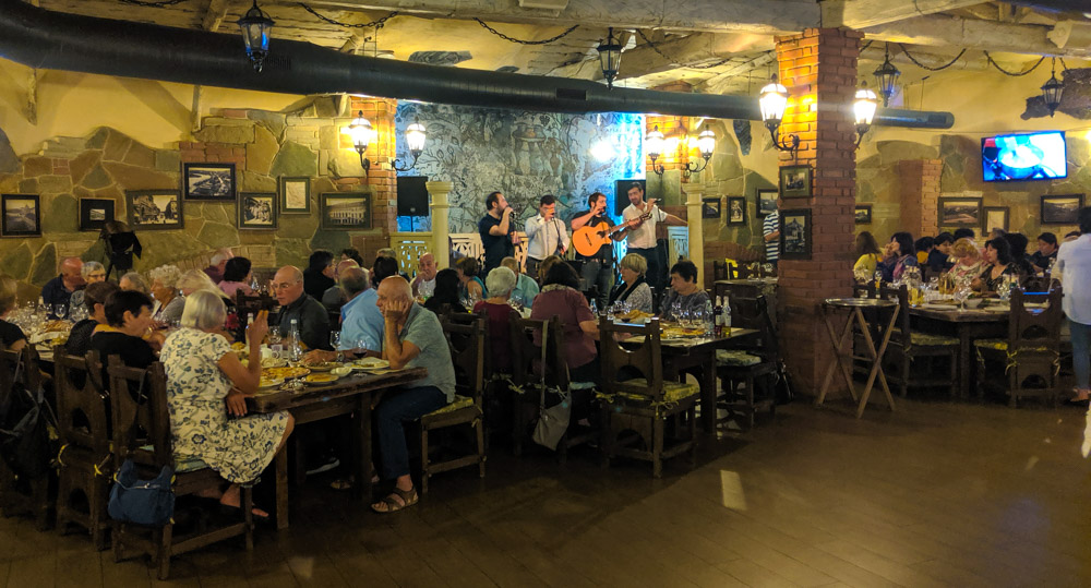 Musicians in Restaurant Georgian House