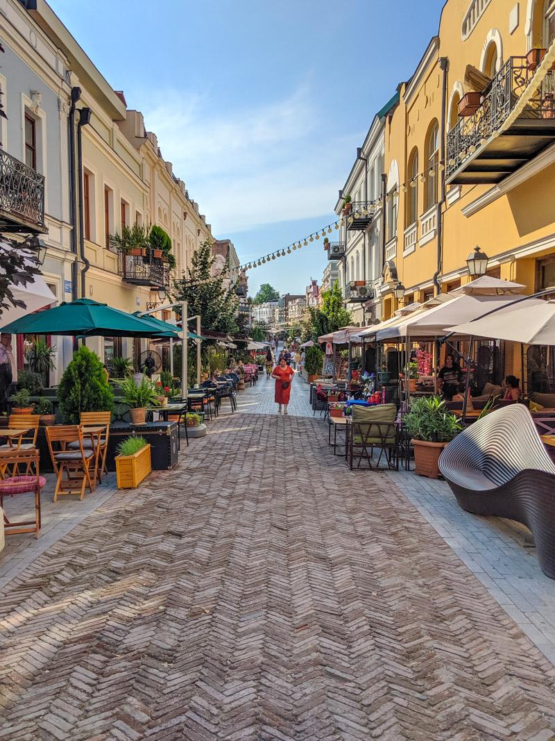 The hip bars of Davit Aghmashenebeli Ave