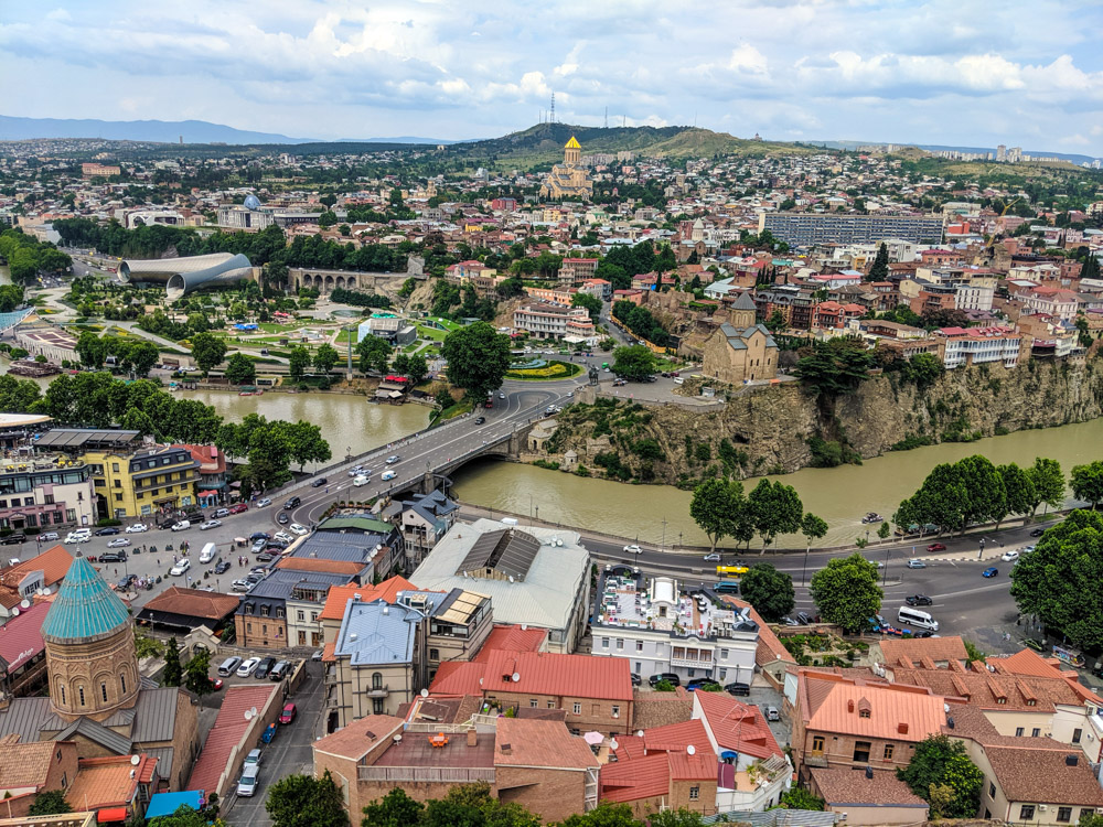 The view from Narikala Fortress